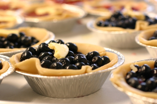 blueberry pie at petaluma pie company, a bakery in sonoma county, northern california