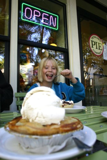 remember the ala mode, ice cream on pie at petaluma pie company, a farm to table bakery cafe in sonoma county norther california