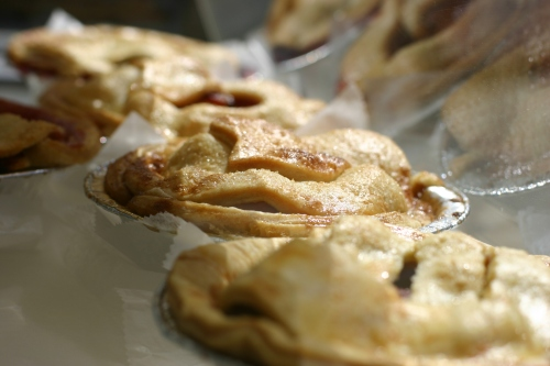 fruit pies from Petaluma Pie Company, a bakery cafe in Sonoma County, Northern California