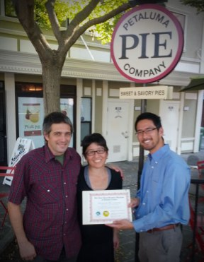 Petaluma Pie Company is now a Sonoma County Certified Green Business