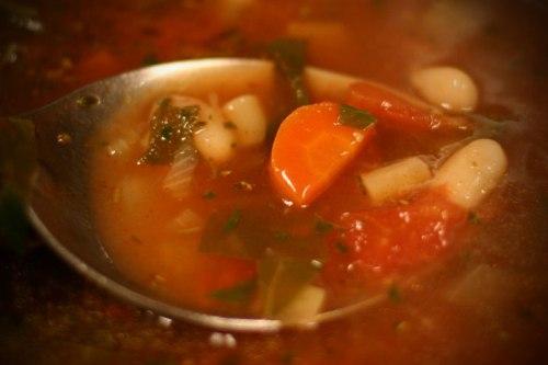 mmm…minestrone soup! at petaluma pie!