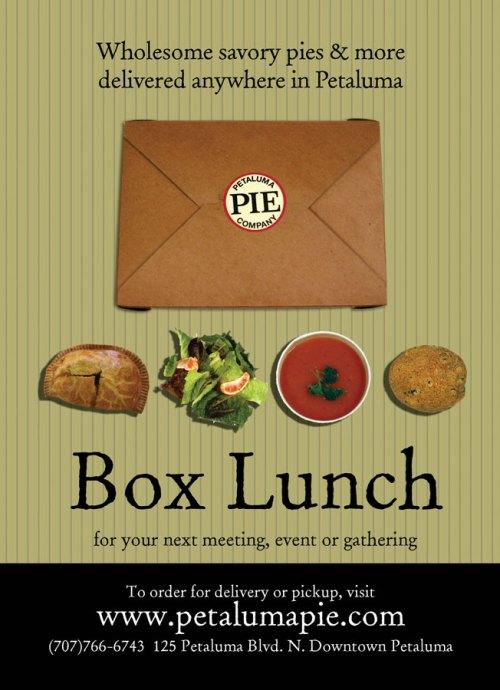 Box lunch at Petaluma Pie