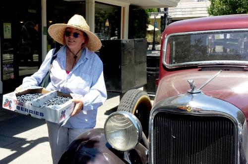 Lorri Duckworth and her fancy truck and berries