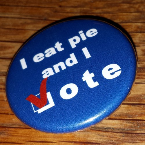 I eat pie and i vote