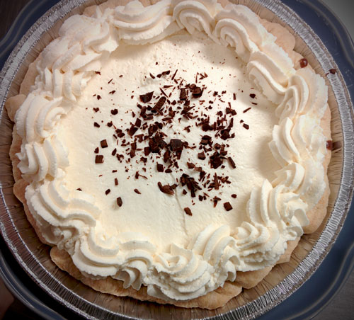 French Chocolate Silk Pie at Petaluma Pie Company