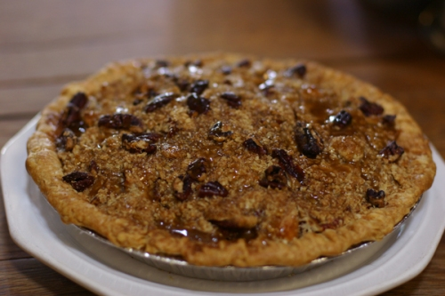 Apple Pecan Caramel Crumble Pie at Petaluma Pie Company