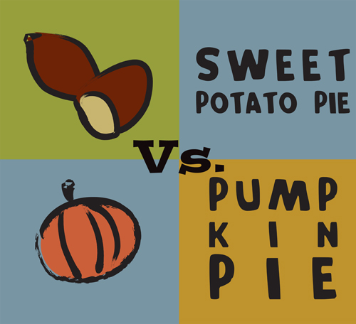Pumpkin Vs. Sweet Potato blind taste test at Petaluma Pie Company